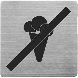 Alco Piktogramm Edelstahl Schild 9x9cm