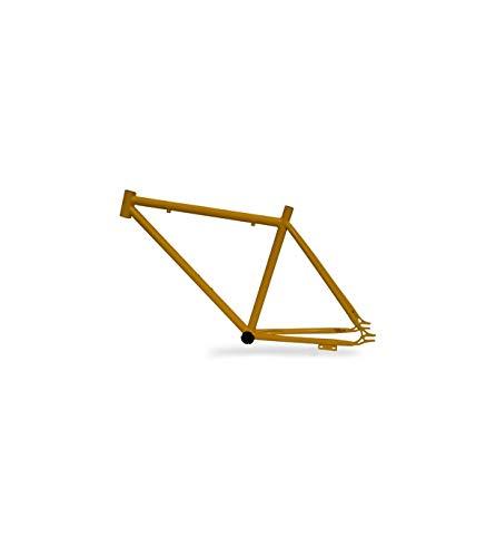 Riscko 001l Cuadro Bicicleta Personalizada Fixie Talla L Amarillo Fluor