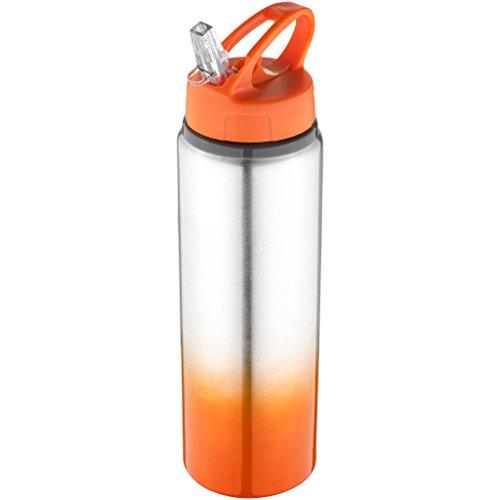 BULLET - Bouteille à couleur dégradée (Taille unique) (Orange/Argent)