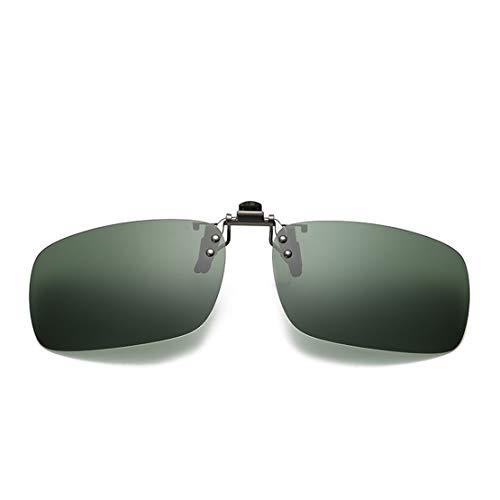 JIUPO Sonnenbrillen Vorhänger Brille Aufsatz Clip On Polarisiert, blendfreie Brille zum Fahren, Angeln, für Freiluftaktivitäten,Unisex