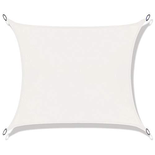 LOVE STORY Toldo Vela de Sombra Impermeable(PES) Rectangular 2×3m Crema Protección UV para Terraza Camping Jardín al Aire Libre