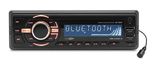 Caliber RMD046BT 4X 75W Bluetooth Negro Receptor Multimedia para Coche - Radio para Coche, 1 DIN,