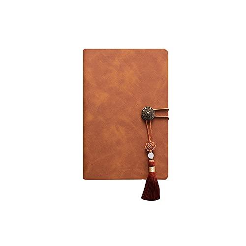 JUGTL Cuaderno Para Hojas Sueltas B5 Desmontable Ruled Diario Supergrueso Negocio A5 Reunión Libreta Notas Marrón A6 188X123MM