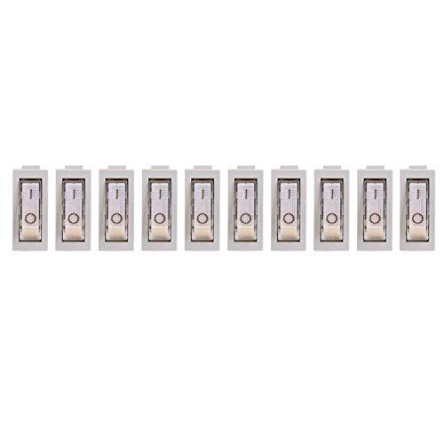 10 Stücke 3 Pin 2 Position Wippschalter AC 250 V / 16A 125 V / 30A Licht Beleuchtet ON-OFF SPST Elektrische Wippschalter für Home Auto Auto Boot