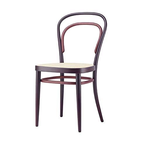 214 Two-Tone - Sedia con intreccio di Vienna, 43 x 52 cm, colore: Rosso