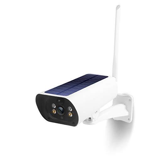 Baalaa CáMara con Tarjeta Sim 4G LTE CáMara de Seguridad Solar al Aire Libre CáMara CCTV con Sensor de Movimiento PIR de Audio Bidireccional con VisióN Nocturna 1080P EU