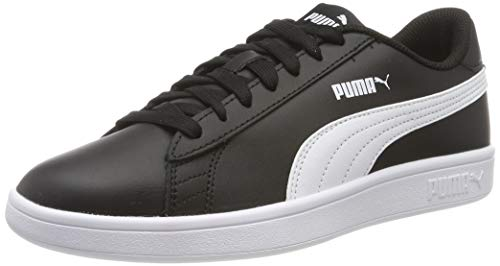 Puma Puma Smash v2 L Scarpe da Ginnastica Basse Unisex - Adulto, Nero (Puma Black-Puma White), 44.5 EU (10 UK)