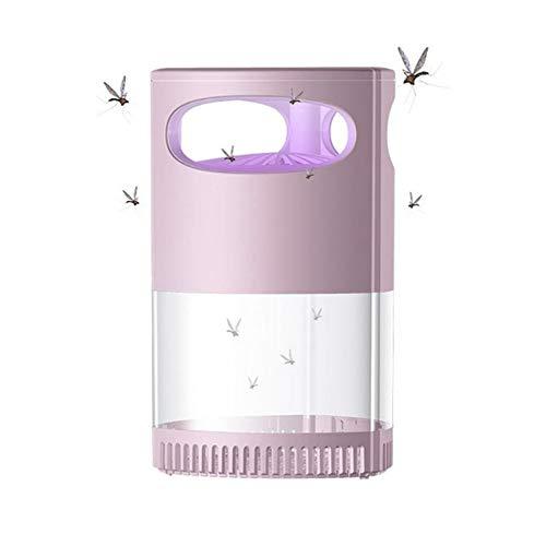 Paquete De 2 Lámparas Eléctricas USB para Matar Mosquitos, Luces para Matar Moscas, Atrapa Insectos, Luz UV, para El Hogar, Dormitorio, Habitación De Bebé, Cocina, Oficina,Rosado
