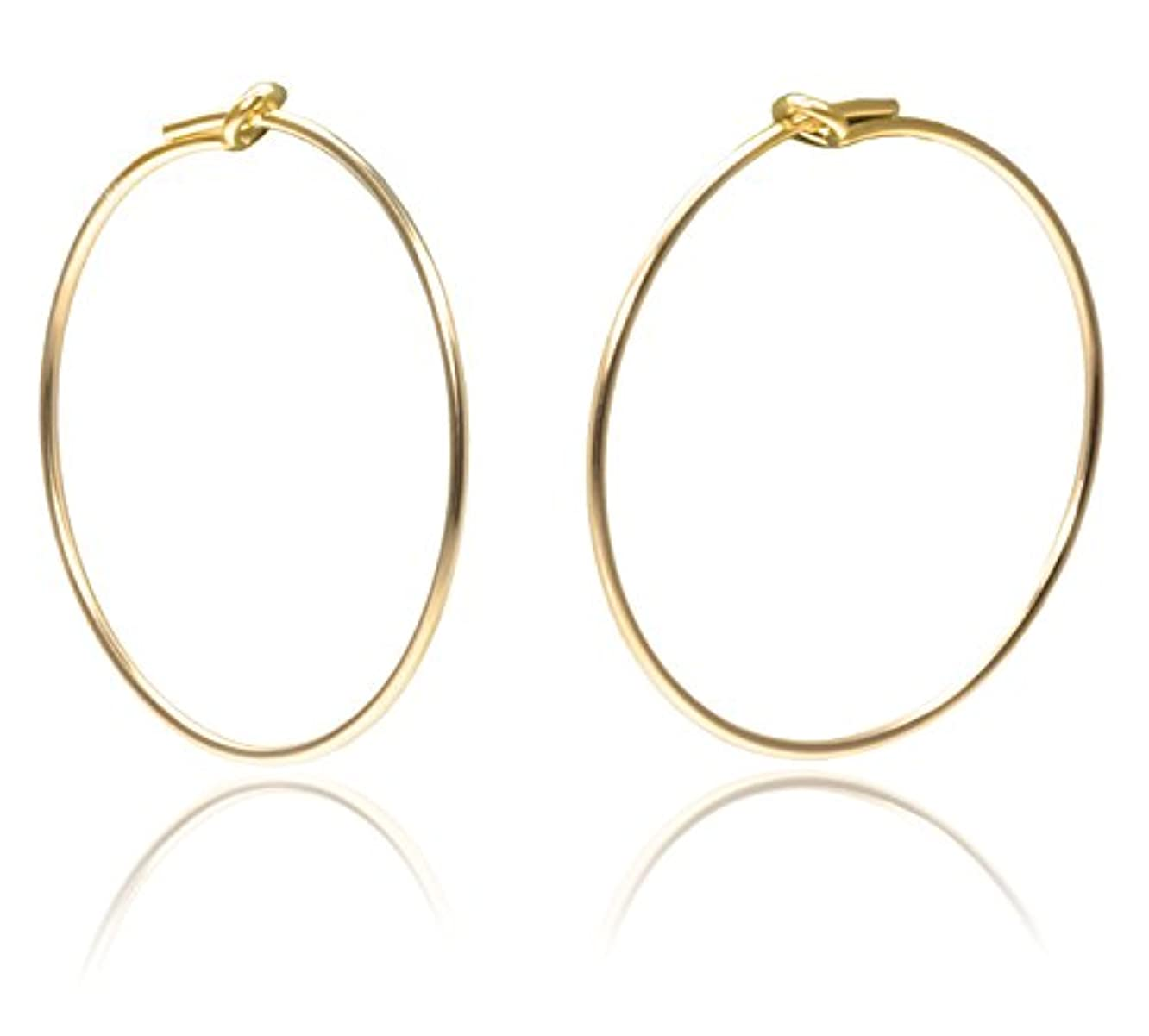 14K Gold Fill Beading Hoop 45mm Qty=2