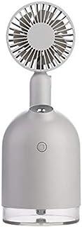 LHQ-HQ 2000 mAh batería del Ventilador de Aire con USB humidificador Aroma difusor de aceites Esenciales portátil del Ventilador de Tabla Gris Escritorio Ventilador USB