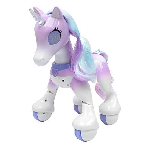 B Blesiya Juguete de Unicornio Eléctrico Teledirigido Mascota Inteligente Sensible al Tacto...