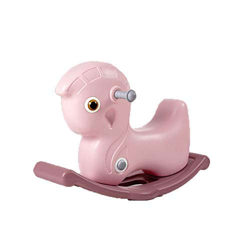 LRHD Baby Rocking Horse Toys, 1-3 Year Old Children's Rocking Horse Toys, Rocking Horse/Deer Rocking Horse/Deer Rocking Horse/Reindeer Rocking Horse/Horse/Animal Rocking Chair (Color : Pink)