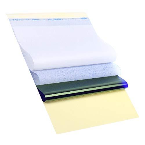 LYYCEU 100 stücke A4 Tattoo Spirit Carbon Papiere Recycelbare Thermisch-Transfer-Kopierer Papierschablonen-Kits