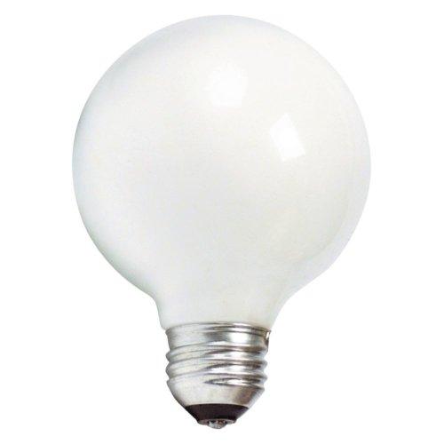 Philips 169045 40-watt G25 White Decorative Medium Base Globe Light Bulb, 3-Pack