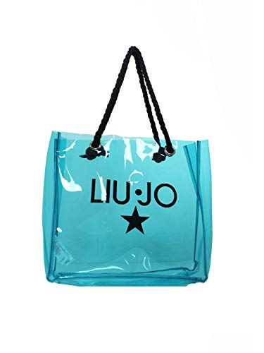 Bolsa playa PVC Liu Jo VA1137T0300 azul Virdian Green Talla única
