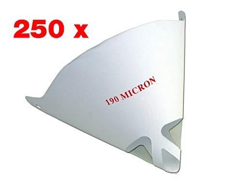 STC Lacksiebe 190 µm fein für 2K Lacke (Verschiedene Mengen) Farbsiebe Einweg Lackfilter Papierfilter (250 Stück)