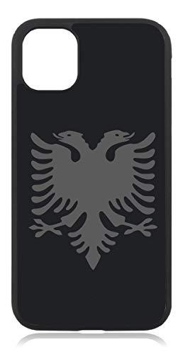 Kompatibel mit iPhone 11 Albanien Fahne Mattschwarz Schwarz Handyhülle Case Cover Hülle Silikon