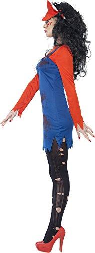 SMIFFYS Smiffy's 44364M - Zombie Idraulico Femminile Costume Rosso con Dress Top & Cappello, M