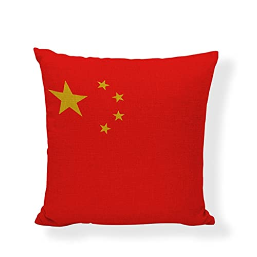 HUAYING Funda de cojín con bandera de país, Inglaterra, Rusia, 45 x 45 cm, Francia, China, Argentina, decoración de sala de estar