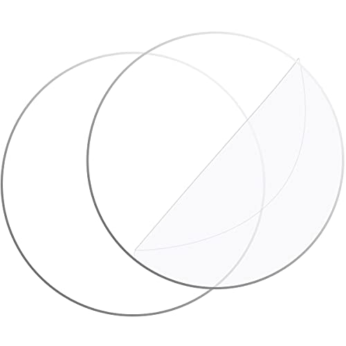 Clear Circle Acrylic Sheet, 10 Inches Round Acrylic Disc 0.08 Inch Thick Transparent Acrylic Circle plexiglass Panel Sign for DIY Projects and Crafts (2 Pack)