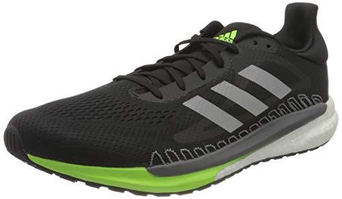 adidas Solar Glide 3, Running Shoe Uomo, CBLACK/SILVMT/SIGGNR, 42 EU