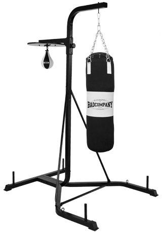 Bad Company freistehende Boxsackhalterung für Punchingbags, Speedballs und Doppelendbälle I Höhenverstellbarer Boxstand aus Stahl I BCA-43