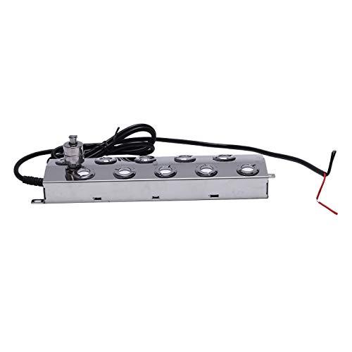 SODIAL 10 Cabeza 5KG / H UltrasóNico Fabricante de la Niebla Nebulizador Humidificador de Aire de Acero Inoxidable Invernadero HidroponíA Aeromista B