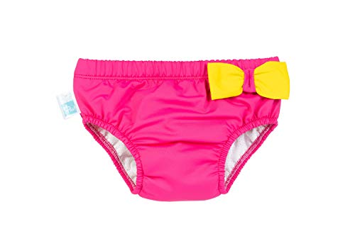 PSS! WATER Maillot de bain jaune et rose fillette anti-fuite Taille M - Made in Italy