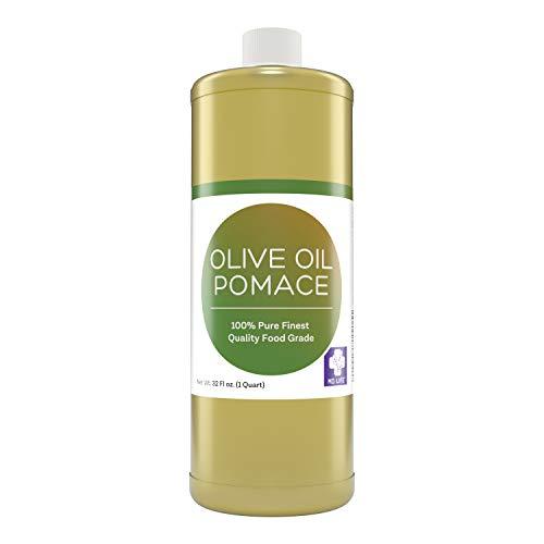 MD. Life Pomace Olive Oil – Sustainable 0 Pure Mediterranean Food Grade Cooking Olive Oil - 32oz Bottle - Cold Press Olive Oil for Soap Making, Hair, Massage & Moisturizer - Olive Oil for Skin