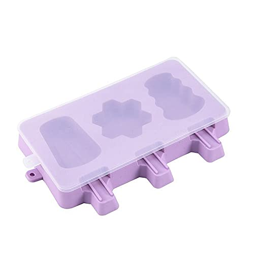 1.Our molds are made of premium food grade silicone, so you can rest assured that will be kept healthy and safe durable material will not crack or leak in the future, soft touch, easy to hold 2. It is easier for frozen pop to slide out of mold, just ...