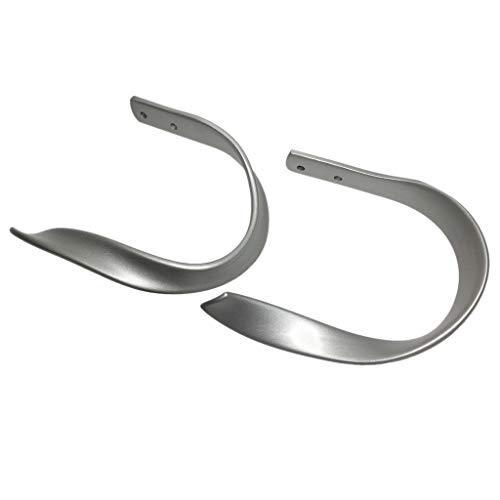 SM SunniMix 2pcs Raffhalter Gardinenhalter Wandhaken Haken - Raffbügel - Metall Raffhaken - Gardinenhalter für für Vorhang Gardinen - Silber