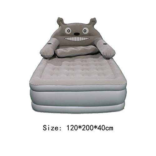 Sale!! VIVIANE Household Single Double Air Bed Thickening Height Inflatable Bed Cartoon Air Cushion ...