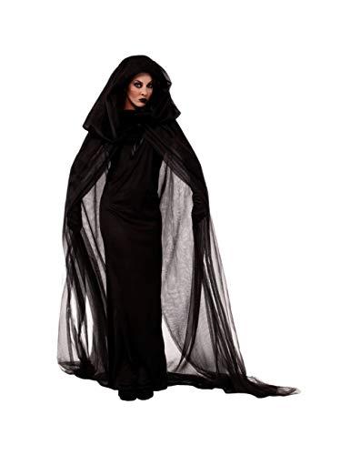 GBYAY Mittelalterkleid Halloween Kostüme für Frauen Cosplay Kostüm e Horror Braut Langes Kleid + Umhang Umhang + 1 Paar Handschuhe
