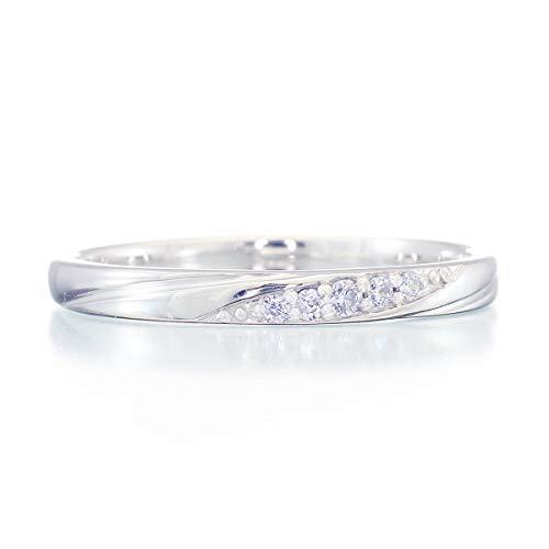 [ココカル]cococaru シルバー Silver925 ダイヤモンド リング 0.03ct 重ね付け 指輪 6号 ピンキーリング 天然 ダイヤモンド 日本製