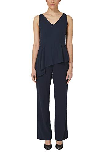 s.Oliver BLACK LABEL Damen 70.903.85.5515 Jumpsuit, Blau (Deep Sea 5954), (Herstellergröße: 40)