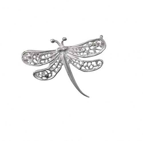 Plateado diseño de libélula broche hecho a la orden en joyas trimestre Birmingham