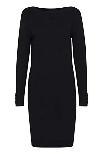 fransa - Damen Strickkleid, ZUBASIC 131 Dress (20608517), Größe:M, Fransa:Black...