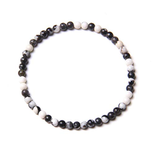 AIMICONG Mens Bead Bracelets 4 Mm Phoenix Lapis Lazuli Bracelets For Women Handmade Elastic Jewelry Men Natural Sodalite Stone Beads Bangle Couple Friendship B 21Cm
