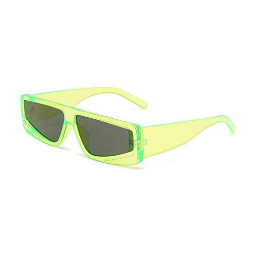 Gafas de Sol Sunglasses Gafas De Sol Cuadradas Retro con Diamantes De Imitación para Mujer, Marca De Lujo, Personalidad De Moda, Color De Gelatina, Gafas De Sol Vintage para Hombre