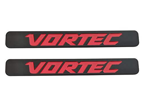 2Pcs Vortec Emblems Badge 3D Replacement for Chevrolet 2500hd GMC Sierra Silverado Gm Truck Liter Badge (Black red)