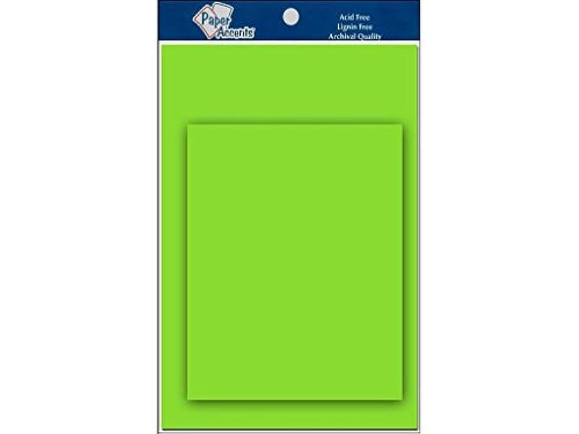 Accent Design Paper Accents 4.25x5.5 C&E Lime Green