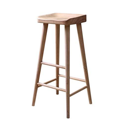 WPJDZ Solid Wood Bar Stoel Backrest Bar Stoel Huishoudelijke Industriële Wind Hoge Kruk Met Pedaal Kruk Hoogte 55cm, 65cm, 75cm