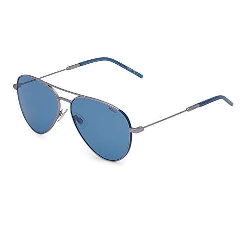 Hugo Boss Gafas de sol (HG-1059-S 9T9KU) rutenium mate, color azul y gris