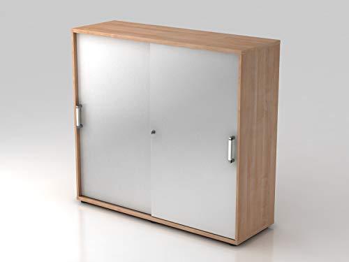 Armoire portes coulissantes 3HC CE , couleur Noyer/Argenté