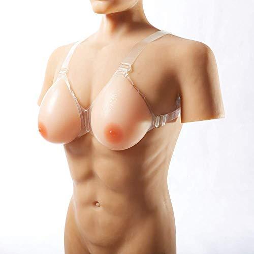 JiesenJX Brustprothesen-Mastektomie, Umschnallbare Kunstbrust Mit Verstellbaren Für Transgender-Individuen, Crossdresser, Cosplay-Silikonbrüste,Skintone,10XL