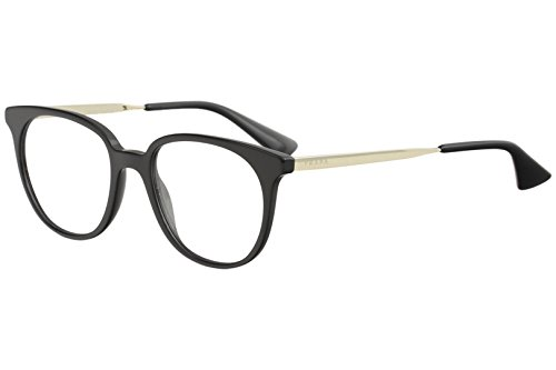 Prada 0PR 13UV Monturas de gafas, Black, 48 para Mujer