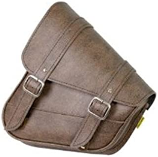 Dowco Willie & Max 59777-00 Triangulated Synthetic Leather Motorcycle Swingarm Bag: Brown, 9 Liter Capacity