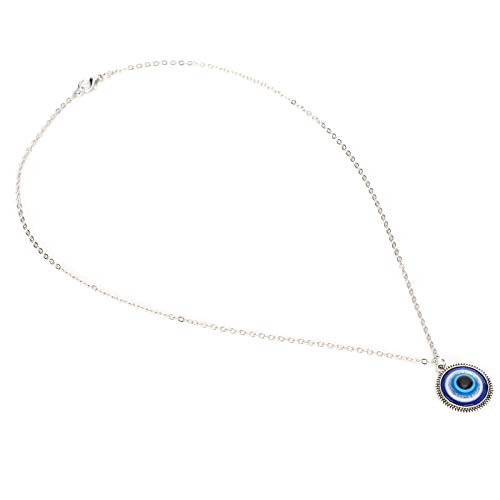 01 Collar de Ojo Azul, símbolo de la Suerte Collar de protección Ocular Azul Collar de Ojo Azul Turco Collar de la Suerte de Ojo Azul para Regalos