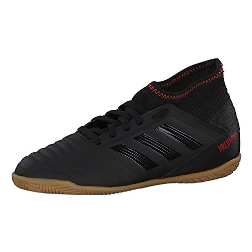 adidas Unisex-Kinder Predator 19.3 In J Fußballschuhe, Mehrfarbig (Negbás/Negbás/Rojact 000), 29 EU