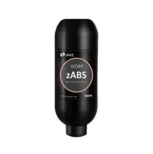 Uniz ZABS 500 ml Amber (amarillo transparente) – Resina para impresora 3D, marfil, 1